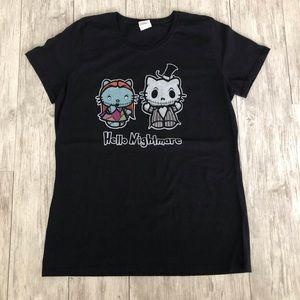 Hello Kitty/ Nightmare Before Christmas Tshirt